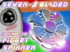 Seven-Bladed Metallic Fidget Spinner - Animated - Full-Perm Script