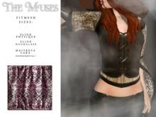 the muses . Blackwork Top . Rose