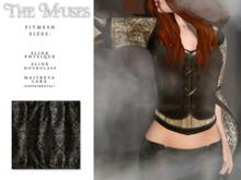 the muses . Blackwork Top . Black