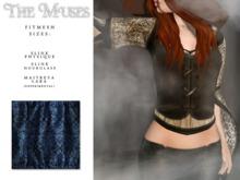 the muses . Blackwork Top . Blue