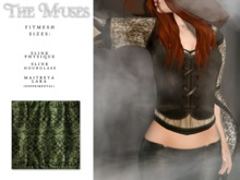 the muses . Blackwork Top . Green