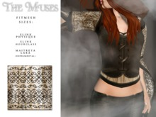 the muses . Blackwork Top . Ivory