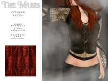 the muses . Blackwork Top . Red
