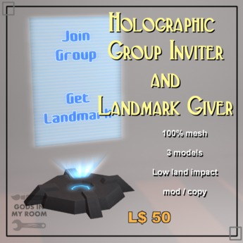 Holographic Group Inviter and Landmark Giver