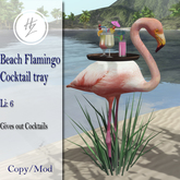 .::Hazeel::. Beach Flamingo Cocktail Tray