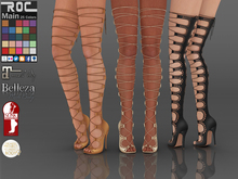 ::ROC:: Lace Up Thigh High Boots