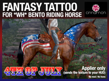 CINNAMON* Fantasy tattoo applier - 4TH OF JULY - For *WH* Riding Horse
