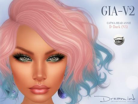 "DREAM INK ""Catwa Mesh Head Appliers GIA_V2"" D-Dark (NS)"