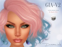 "DREAM INK ""Catwa Mesh Head Appliers GIA_V2"" D-Dark (NS)"