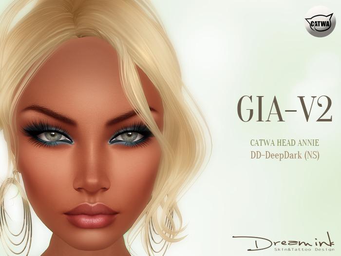 "DREAM INK ""Catwa Mesh Head Appliers GIA_V2"" DD-DeepDark (NS)"