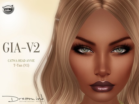 "DREAM INK ""Catwa Mesh Head Appliers GIA_V2"" T-Tan (NS)"