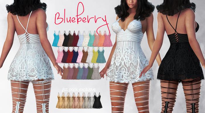 Blueberry - Ime Lace Dress - Maitreya Lara, Belleza Freya Isis Venus, Slink Physique Hourglass - Fat Pack