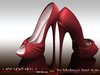 -SKIFIJA-Lady Night(Silk Maroon) heels
