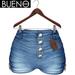 BUENO - Maya Shorts - Denim - Belleza, Freya, Isis, Slink, Hourglass, Fit Mesh