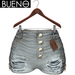 BUENO - Maya Shorts - Torn - Gray - Belleza, Freya, Isis, Slink, Hourglass, Fit Mesh