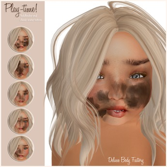 Deluxe Body Factory skins, play time face tattoo for children, Toddleddo and classic avatars