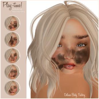 [DBF] Play time - face tattoo Toddleddo Classic avatars [BOX]