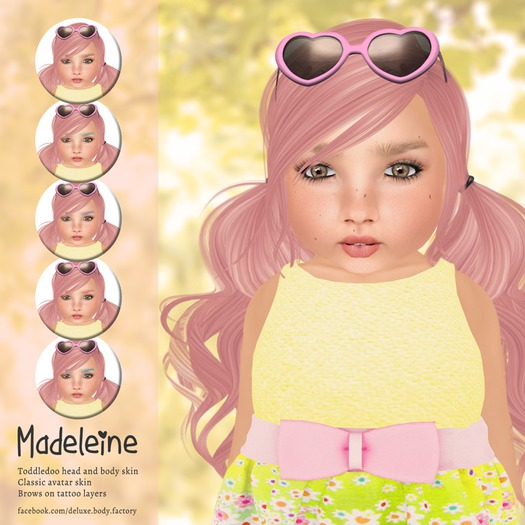 Deluxe Body Factory skins,  Madeleine skin with appliers