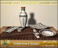 "Tableware Japanese set ""Sushi"" 9 items 100% mesh (full perm)."