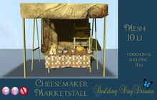 CHEESEMAKER MARKETSTALL W/ SHELF ( wear to unpack)