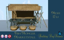 FISH MONGER MARKETSTALL ( wear to unpack)