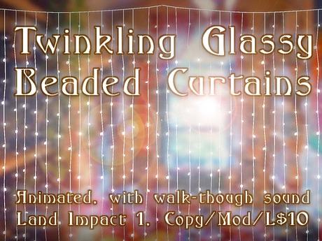 Animated Twinkling Glass Beaded Curtains - Copyable