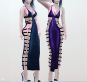 "Elegance Boutique -Dress w/HUD - Black  -  ""Nadia"" - Maitreya /Slink / Belleza"
