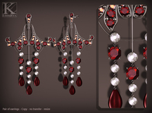 (Kunglers) Irina earrings - Ruby