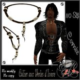 Ecarlate - Necklace Perl's / Collier perles d'ivoire Homme