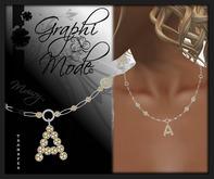 Necklace Silver Letter A / Collier Argent lettre A