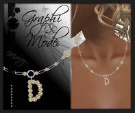 Necklace Silver Letter D / Collier Argent lettre D