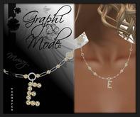Necklace Silver Letter E / Collier Argent lettre E