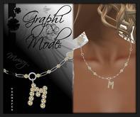 Moury - Necklace Silver Letter M / Collier Argent lettre M