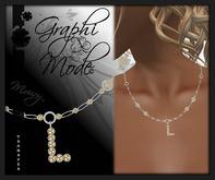 Moury - Necklace Silver Letter L / Collier Argent lettre L