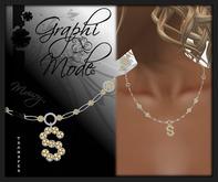 Moury - Necklace Silver Letter S / Collier Argent lettre S