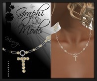 Moury - Necklace Silver Letter T / Collier Argent lettre T