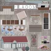 LAGOM - Country Summers - Plates Set Square [07]