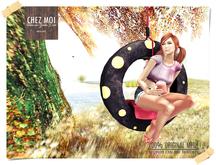Polka Dots Tire Swing Yellow ♥ CHEZ MOI