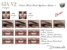 "DEMO | DREAM INK ""Catwa Mesh Head Appliers GIA_V2 Option 1"" V-Vampire"