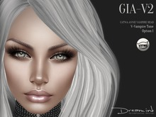"DREAM INK ""Catwa Mesh Head Appliers GIA_V2 Option 1"" V-Vampire"