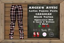 AA - Ladies PJ Pants Canadian - Tartan Black