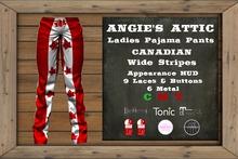 AA - Ladies PJ Pants Canadian - Wide Stripe