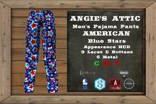 AA - Men's American PJ Pants - Blue Stars