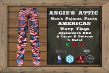 AA - Men's American PJ Pants - Wavy Flags