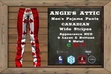 AA - Men's Canadian PJ Pants - Wide Stripes