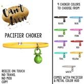 Can't Even - Pacifier Choker (Black)