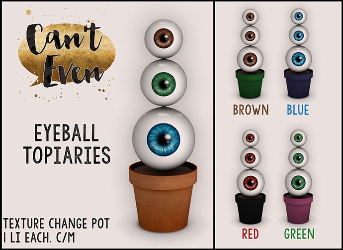 Can't Even - Eyeball Topiary: Blue