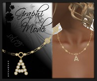 Moury - Necklace Gold Letter A / Collier Or lettre A