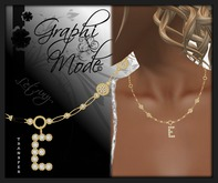 Moury - Necklace Gold Letter E / Collier Or lettre E