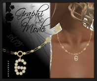 Moury - Necklace Gold Letter G / Collier Or lettre G
